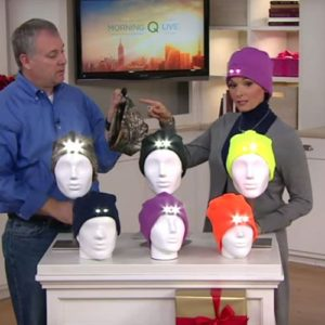 Powercap Fleece Beanie with 4 LED lights on QVC