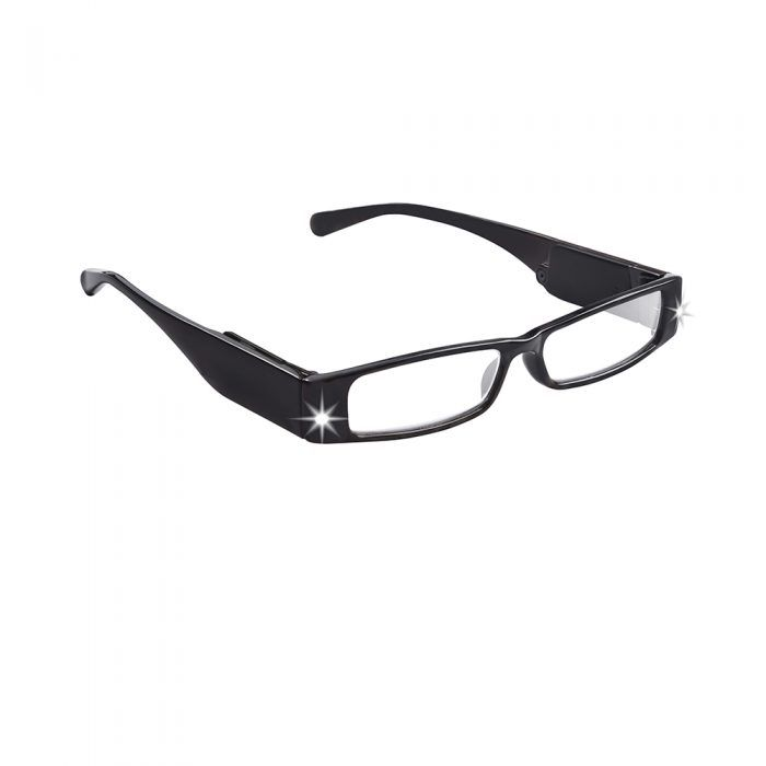 black led lighted reading glasses