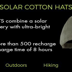 cotton hats solar powered