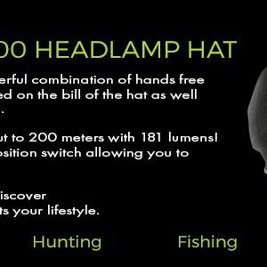 lighted fleece headlamp hat banner