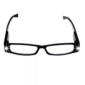 lighted reading glasses front profile