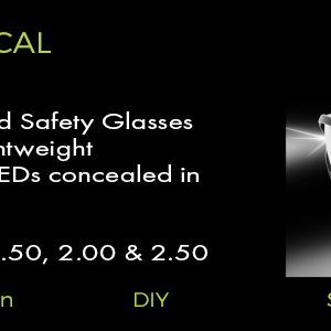 bifocal lighted safety glasses
