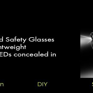 lightweight led safety glasses