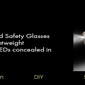 camo led lighted safety glasses for working in the dark