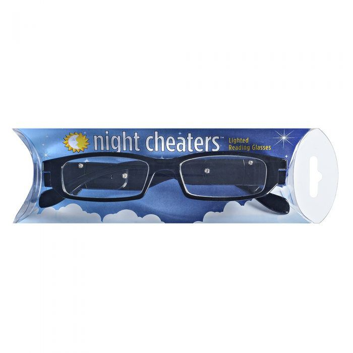 night cheaters lighted reading glasses