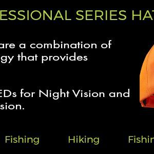 professional series lighted powercap hats