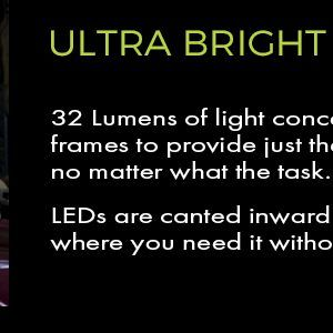 32 lumen lighted safety glasses