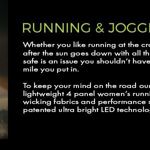 led lighted hat for running in the morning