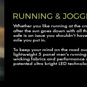 lighted hat for running and jogging