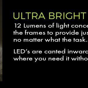 ultra bright women's led reading glasses