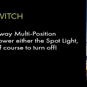 multi-position switch lighted hats