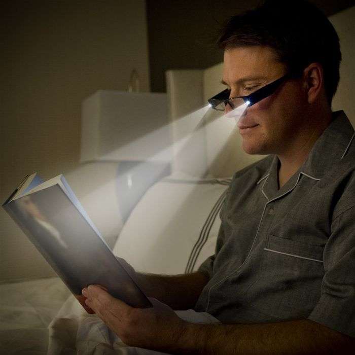 men's lighted reading glaases