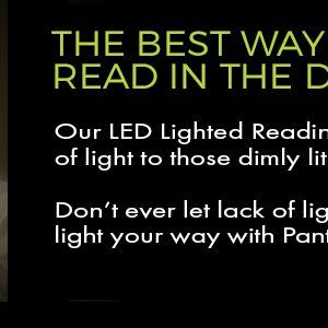 led lighted glasses for reading at night