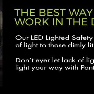 lighted safety glasses for working in the dark