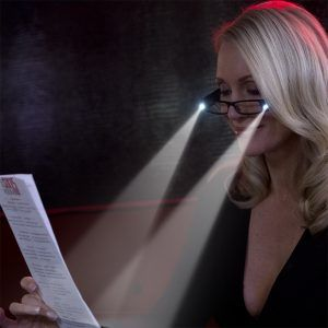 LED lighted reading glasses