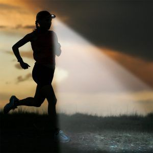 woman running with