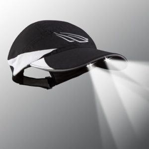 lighted women's running hat