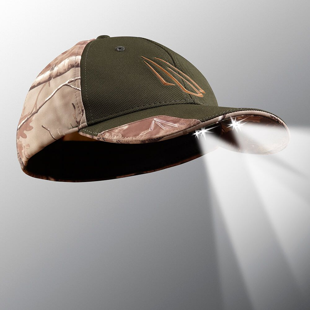315736ae1563d ... POWERCAP 25 75 Fitted Camo LED Lighted Hats. 🔍. hunting hat with light