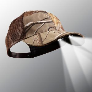 powercap 25/10 camo real tree AP led lighted hat