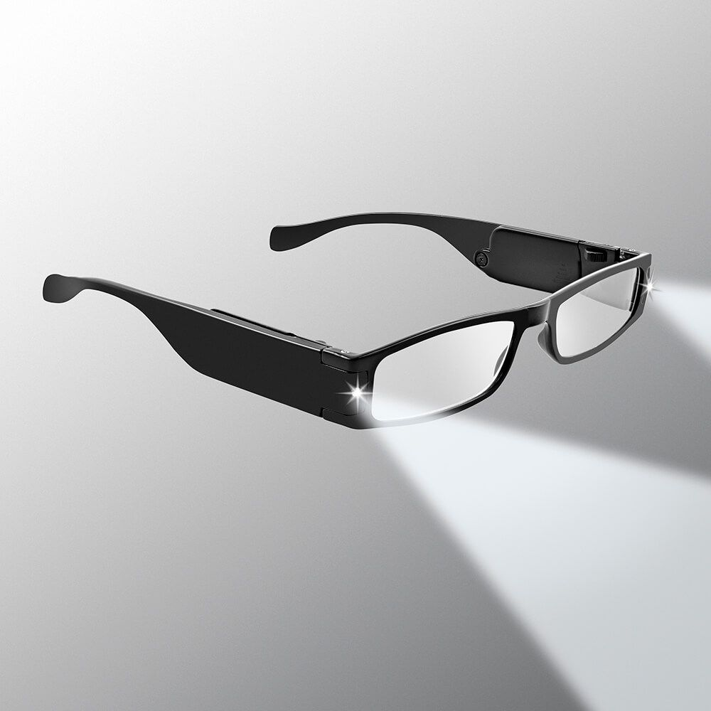 325049fd2f13 LED Reading Glasses Lightweight - LightSpecs - Panther Vision