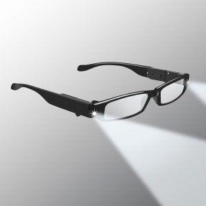 lighted reading glasses black