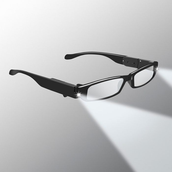 lighted reading glasses black
