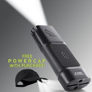 Promotion - free Powercap with Flateye F-1000 LED flashlight purchase