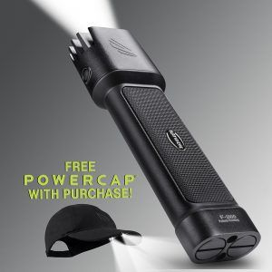 Promotion - free Powercap with Flateye F-2100 LED flashlight purchase