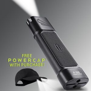 Promotion - free Powercap with Flateye F-700 LED flashlight purchase