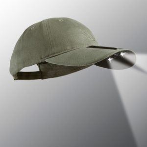 powercap 15/00 colar led lighted hat olive