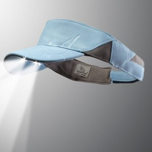 LED lighted visor tuna blue