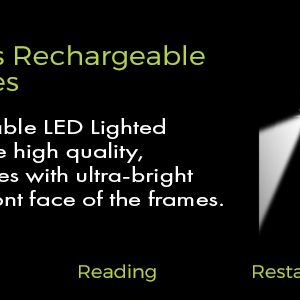 Men's Rechargeable LED Reading Glasses