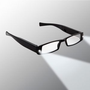 black lighted reading glasses