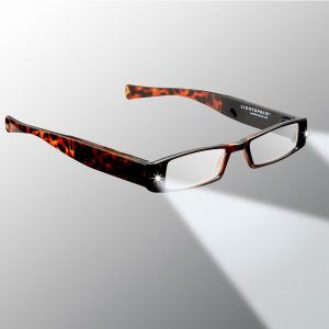 tortoise shell lighted reading glasses