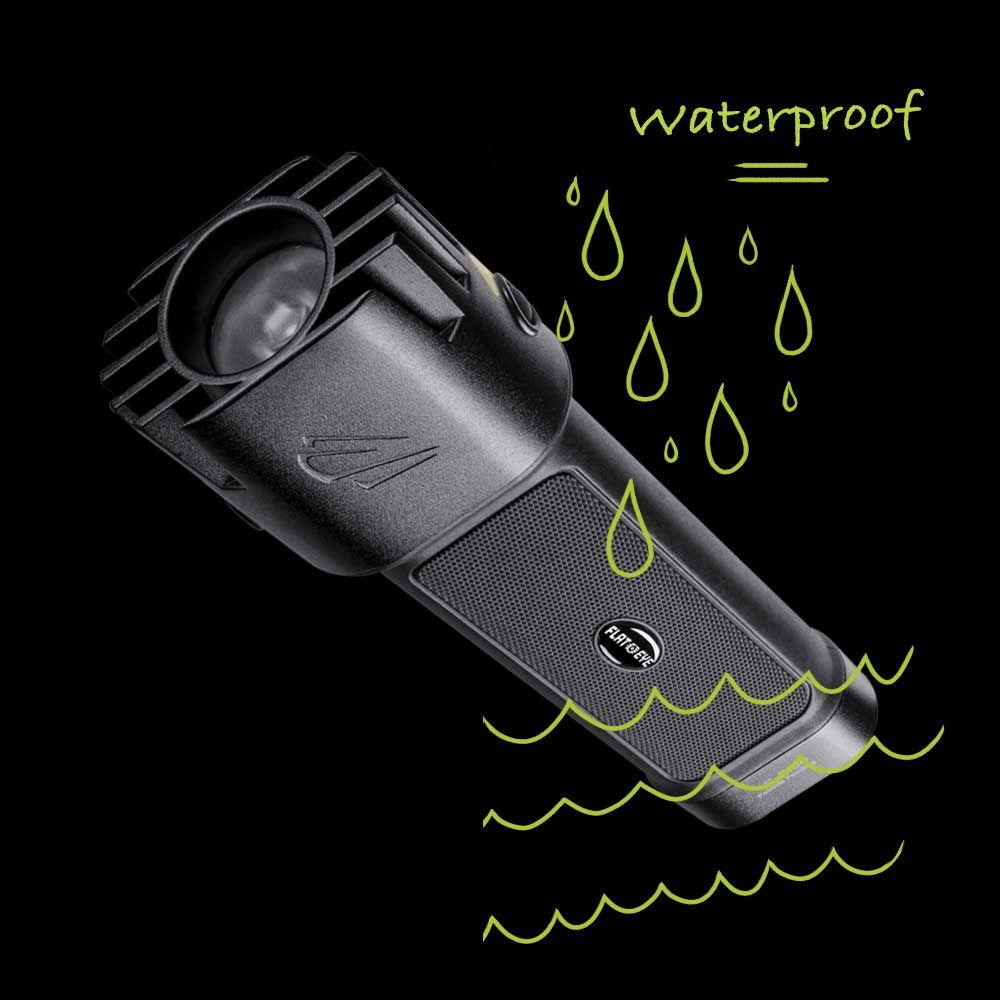flateye flashlight is waterproof