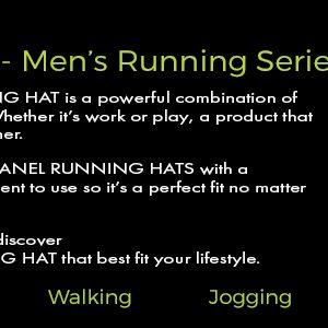 3 panel mens lighted running hats