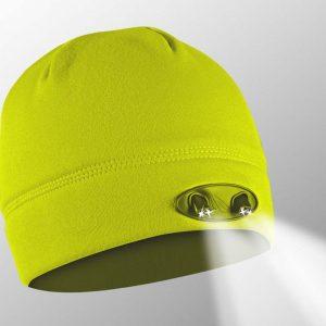 hi-vis yellow powercap beanie