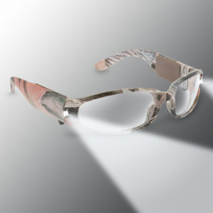 camo pink lighted safety glasses