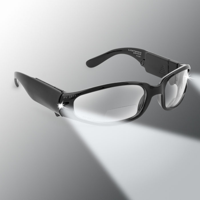 black lighted safety glasses
