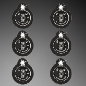 6-pack Button Lamp adhesive LED lights