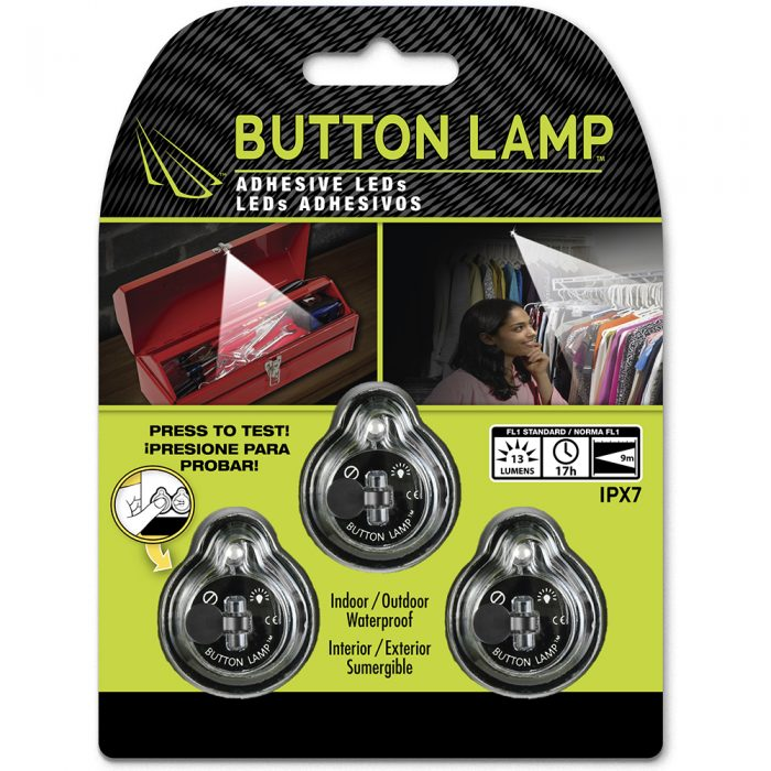 3 pack button lamp led lights banner
