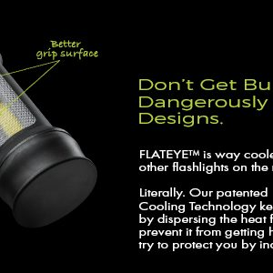 flat led flashlight with cooling technology