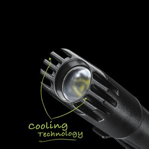 Rechargeable LED Flashlight With Cooling Technology