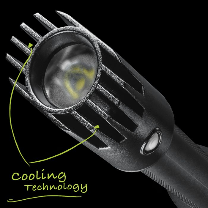 Rechargeable Flashlight With Cooling Technology