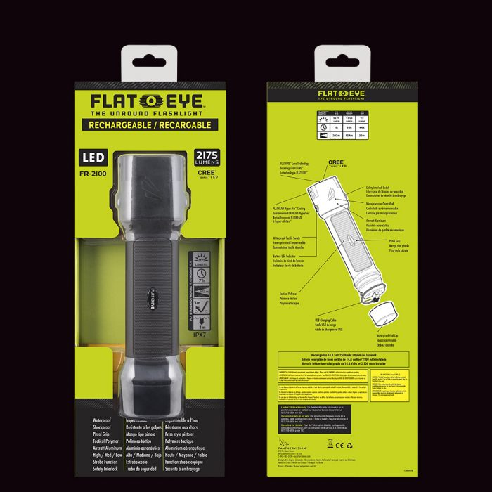 flateye rechargeable led flashlight