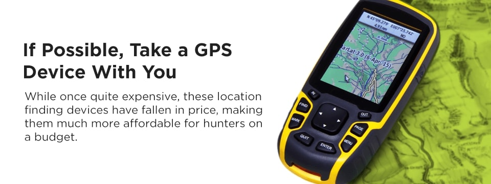 Take a GPS device with you