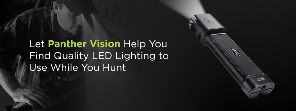 Find quality LED lighting for hunting at Panther Vision