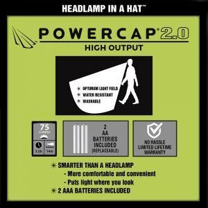 the benefits of our new powercap 2.0 lighted hat
