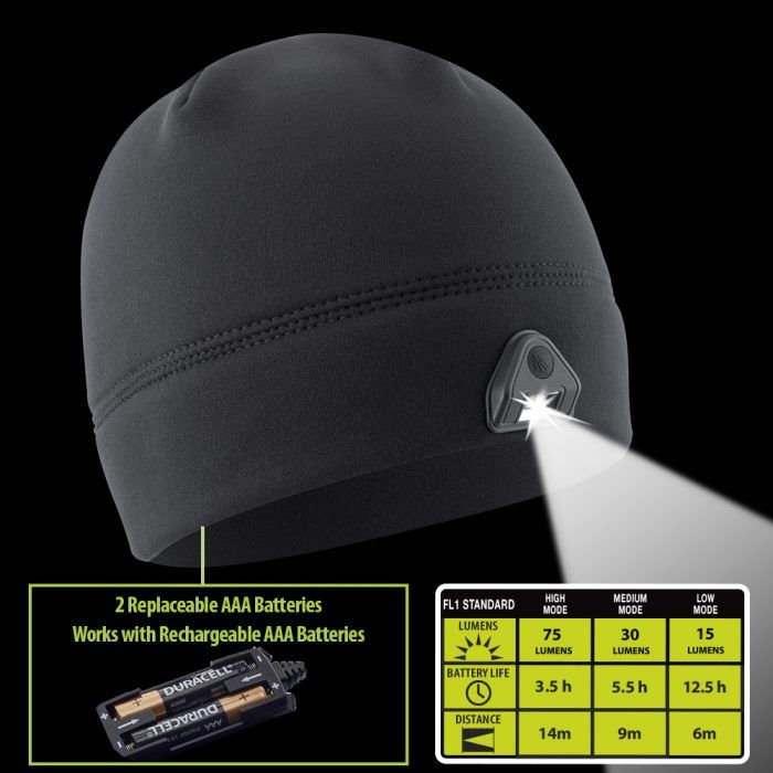 black powercap 2.0 lighted beanie