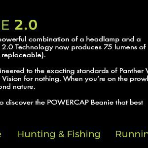 powercap beanie 2.0 hands free lighting